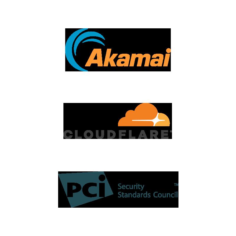 acamai, cloudflare and pci logo
