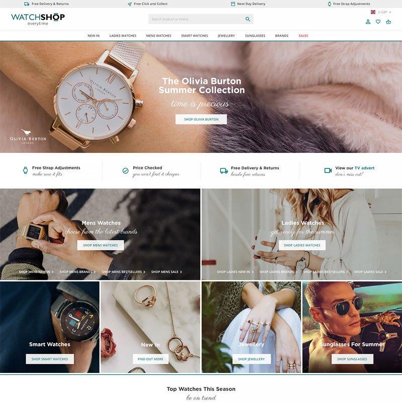 watchshop web design